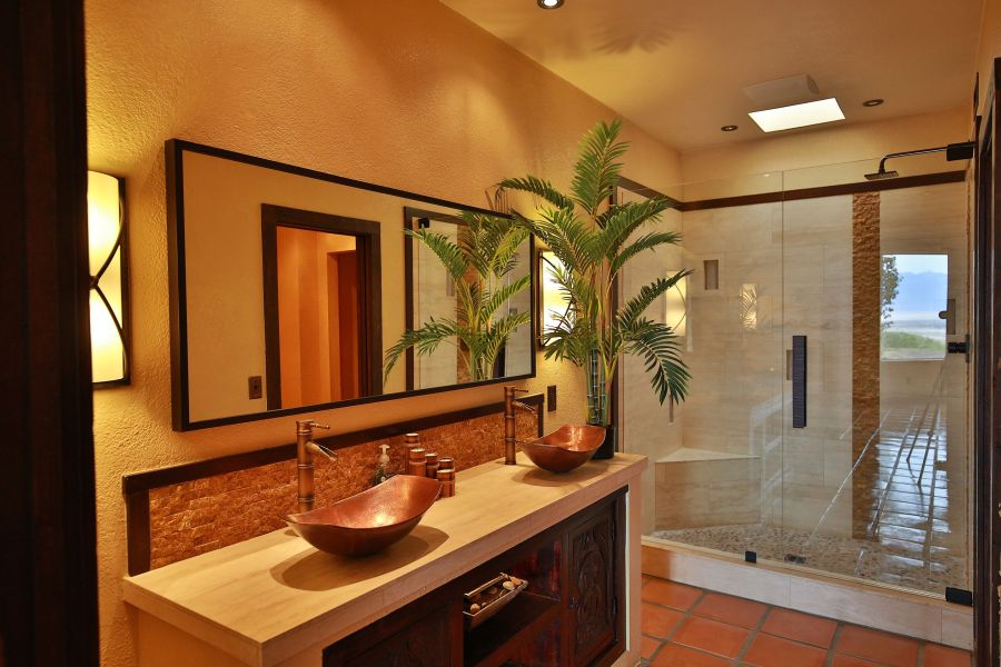 tropical bathroom style